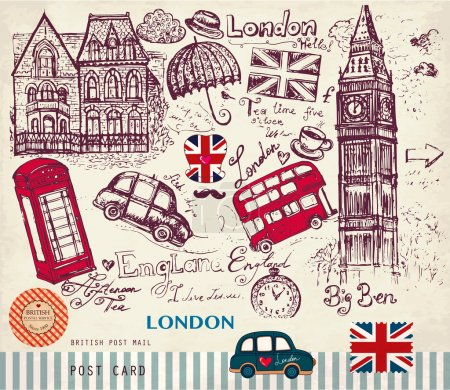 Vector set of London symbols...