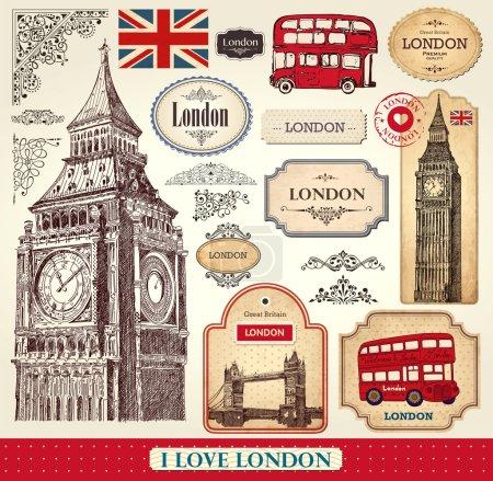 Photo pour Vecteur série de symboles de Londres - image libre de droit