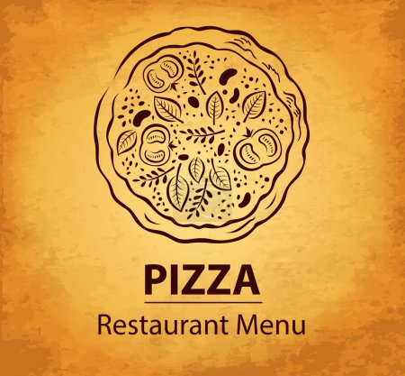 Illustration pour Menu design pizza - image libre de droit