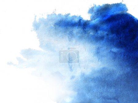 Foto de Abstracta azul acuarela pintado a mano de fondo - Imagen libre de derechos