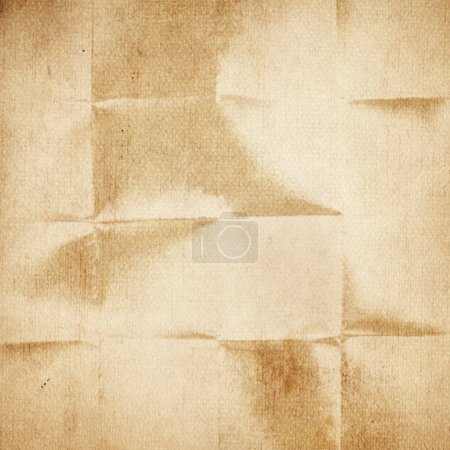 Old folded paper texture
