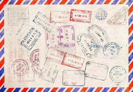 Immigration stamp. Passport Stamps...