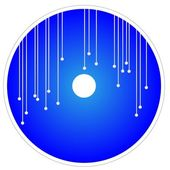 Illustration of Blue CD and DVD Template