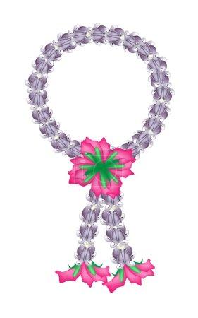 A Fresh Purple Calotropis Gigantea Flower Garland