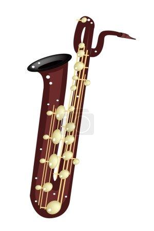 A Musical Baritone Saxophone Isolated on White Background