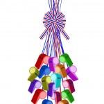 Постер, плакат: Set of Whistles Hanging on A Stripe Ribbon