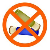 Two Bullets and The Forbidden Sign on White Background