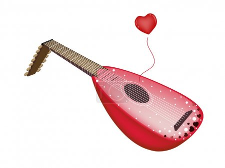 A Beautiful Antique Lute Playing Love Song