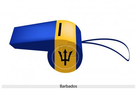 Black, Red and Green Stripe on Barbados Whistle