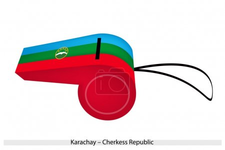 A Whistle of The Karachay Cherkess Republic Flag