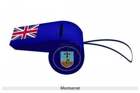 A Beautiful Blue Whistle of Montserrat Flag