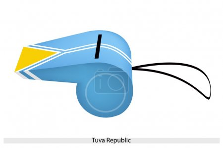 A Beautiful Whistle of Tuva Republic Flag