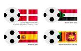 Soccer Ball with Malta Sudan Spain and Sri Lanka Flag