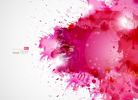 Illustration for Abstract artistic Background forming by blots - Royalty Free Image