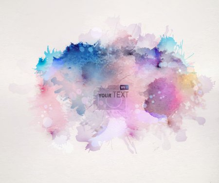 Illustration for Watercolor stains - Royalty Free Image
