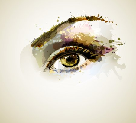 Illustration for Beautiful eye forming by blots - Royalty Free Image