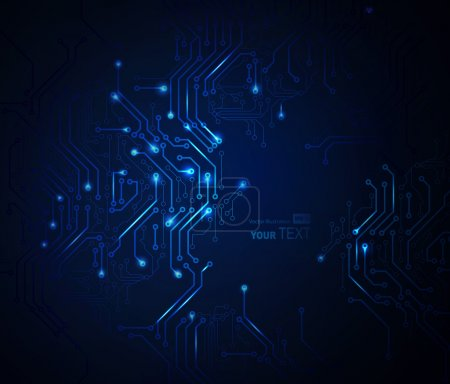 Illustration for Blue Abstract background of digital technologies - Royalty Free Image