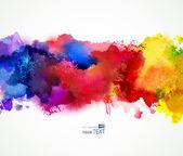 """Постер, картина, фотообои """"яркие пятна акварели"""""""