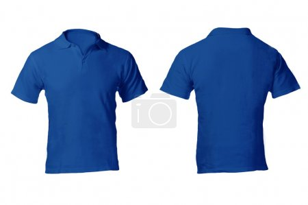 Men's Blank Blue Polo Shirt Template