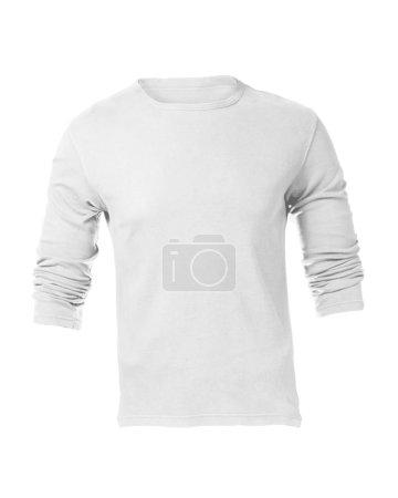 Men's Blank White Long Sleeved Shirt Template