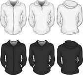 Vector illustration of women's hoodie shirt template
