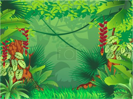 Illustration for Exotic tropical forest - Royalty Free Image