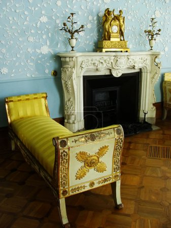 Blue room, interior of Vorontsov palace, Alupka, Crimea