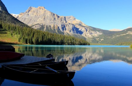 Photo for Mountains reflected in Emerald Lake, Yoho National Park, British Columbia, Canada - Royalty Free Image
