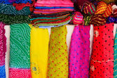 Display of colorful scarves, Mehrangarh Fort, Jodhpur, India