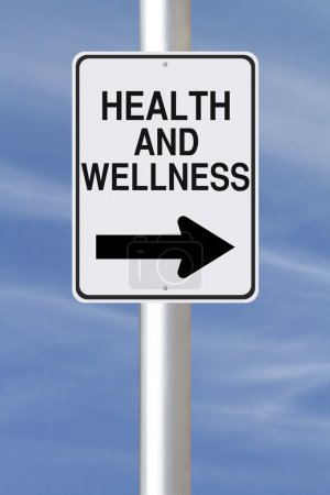 Photo for A modified one way street sign on Health and Wellness - Royalty Free Image
