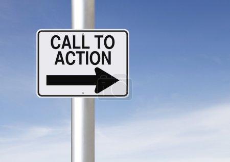 Foto de Cartel carretera una manera de modificada llamada a la acción - Imagen libre de derechos
