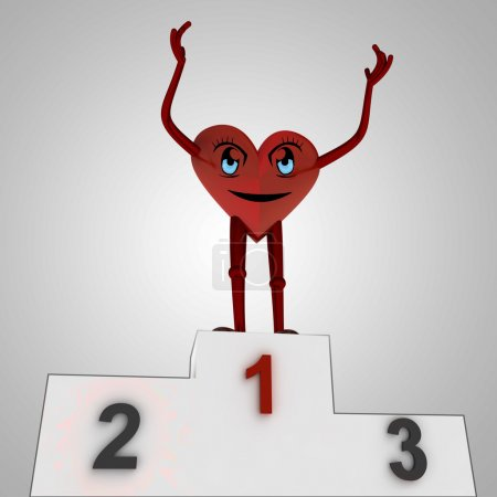 Heart figure wins against disease