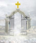 """Постер, картина, фотообои """"Полу открыт вход в рай богов в небе"""""""