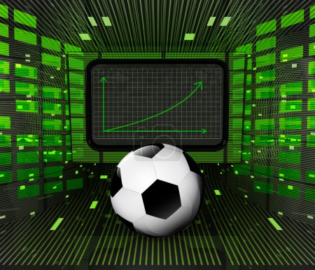 business positive graph forecast or results of football sport industry