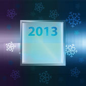 Snowflake blue purple background with square frame vector