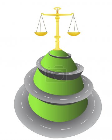 roud to top for weight of justice vector