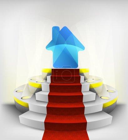 New house on round podium