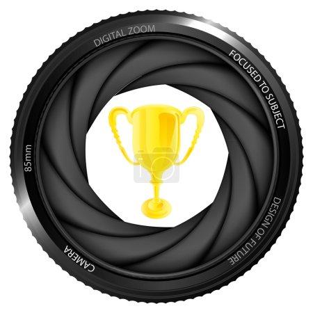 Winner cup in shutter