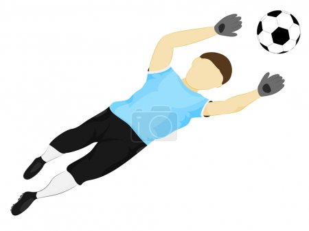 isolated blue dress goalkeeper safe vector