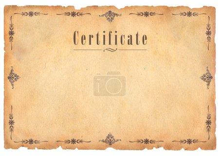 Photo pour Certificat - image libre de droit