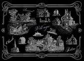 Vesnice ilustrace