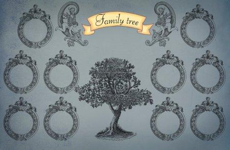 Photo pour Illustration de l'arbre généalogique - image libre de droit