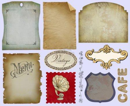 Vintage-Etiketten setzen