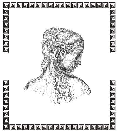 Photo pour Style de cheveux grec antique - image libre de droit