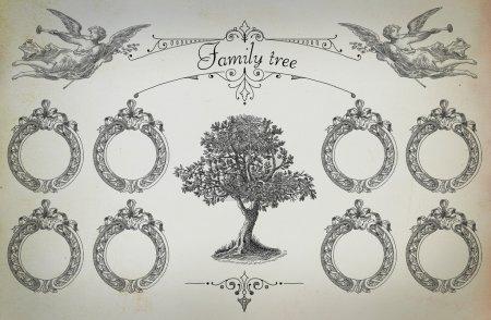 Photo pour Illustration arbre généalogique - image libre de droit