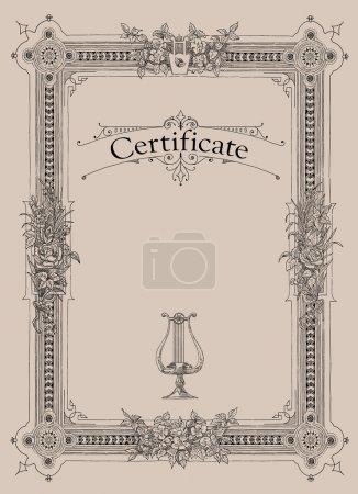 Photo pour Certificat, diplôme d'achèvement (modèle de conception) - image libre de droit