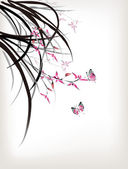 Chinese Orchid and butterfly ink style