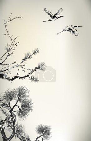 Ink style Pine Tree