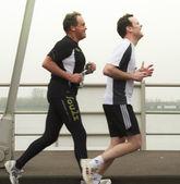 DORDRECHT, THE NETHERLANDS - APRIL 3 2011: runners feeling the p