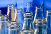 Empty bottles close up